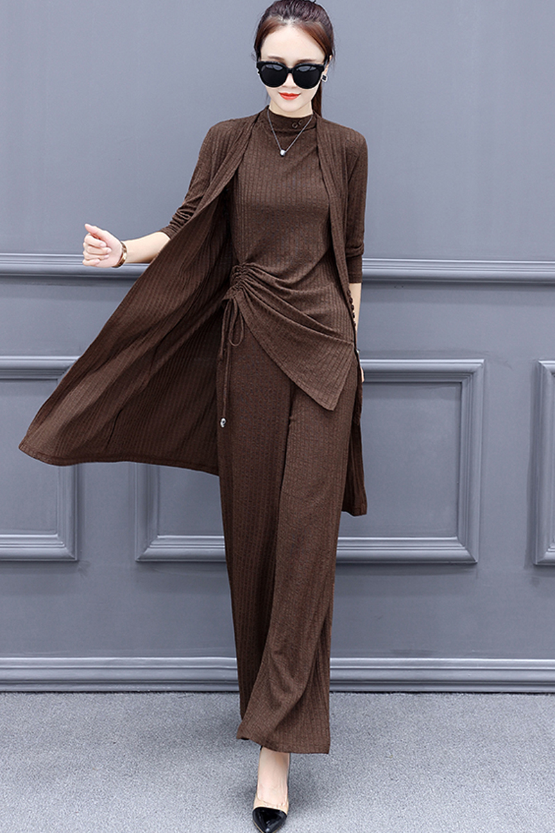 Newest Spring Autumn Elegant Office Lady Business Suits Plu Size 5XL Casual Tops Female 3 Piece Sets Outwear LX1663