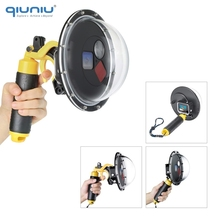QIUNIU 60M Underwater Diving Waterproof Case Filter Switchable Dome Port Cover for GoPro HERO 5 6 7 Black Go Pro Lens Acccessory