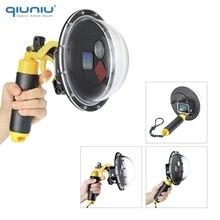 Qiuniu 60 m 수중 다이빙 방수 케이스 필터 gopro hero 5 6 7 용 전환 가능한 돔 포트 커버 black go pro 렌즈 acccessory
