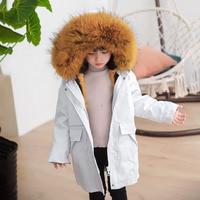 2019 Winter Jacket Baby Boy Fur Hooded Girls Coats Thick Warm Kids Parka Teenage Children's Windbreaker Fashion Boys Clothes