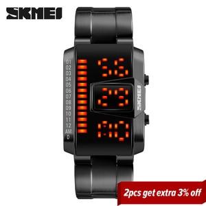 Image 2 - SKMEI moda kreatywny sport LED zegarki mężczyźni Top luksusowa marka 5ATM wodoodporny zegarek cyfrowe zegarki na rękę Relogio Masculino