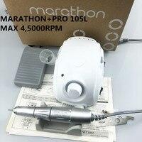 Новый сильный чемпиона марафона-3 сильный 210 PRO 105L ручка 45000 об/мин Электрический Фрезер для ногтей, сверлильный Форте 210 ногтей, для маникюра, ...