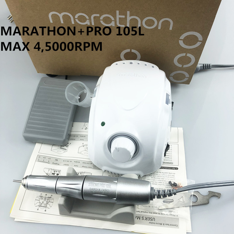 NEW <font><b>STRONG</b></font> MARATHON champion-3 <font><b>Strong</b></font> 210 PRO <font><b>105L</b></font> Handle 45000 rpm Electric Nail Drill FORTE 210 Nail art Tool new image