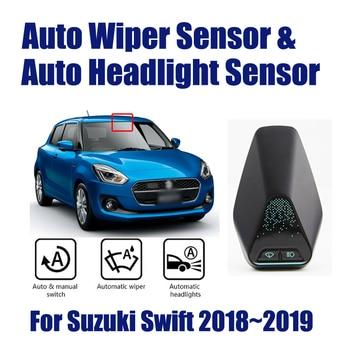 Car Automatic Rain Wiper Sensors & Headlight Sensor For Suzuki Swift 2018~2019 Smart Auto Driving Assistant System auto driving assistant smart wiper and headlight sensor for mazda cx 4 2016