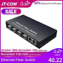Commutateur Gigabit Ethernet Commutateur Fibre SFP 10/100 / 1000Mbps Convertisseur de Médias Fibre Optique 4 * Port Fibre SFP et 2 Port RJ45 UTP 4 / 8G2E Commutateur Ethernet Fibre