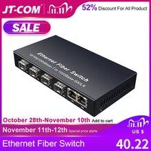 מתג אתרנט רשת Gigabit SFP מתג סיבים 10/100 / 1000 מגהבייט לשנייה ממיר מדיה סיב אופטי 4 * יציאת סיב SFP וסמל 2 RJ45 UTP יציאה 4 / 8G2E מתג אתרנט סיבי