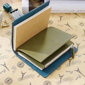 Image 4 - Porta cartões em couro legítimo, bolsa com zíper para guardar cartões, acessórios para notebook, artesanal, planejador de sketchbook, 100%