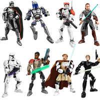 Figuras de Star Wars 9 de Disney, bloques de construcción Kylo Ren, Chewbacca, Darth Vader, Boba, Jango Fett, Stormtrooper, bloques compatibles, regalo