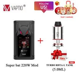 Оригинальный VAPTIO супер летучая мышь 220 Вт вейп мод подходит для двойной 18650 батареи без батареи электронные сигареты испаритель VS N1 PRO 240W