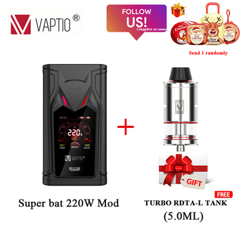 цена на Original VAPTIO SUPER BAT 220W Vape Mod Fit for Dual 18650 Battery No Battery Electronic Cigarettes Vaporizer VS N1 PRO 240W