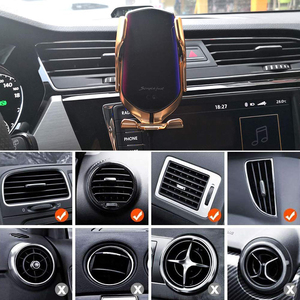 Image 4 - Qi Wireless Charger Automatic Clamping 10W Car Wireless Charger For iPhone Xs Huawei LG Infrared  Car Phone Holder