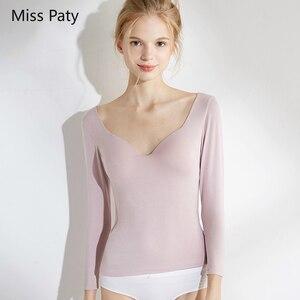 Бесшовный базовый интимный топ в форме тела с длинными рукавами подштанники теплый термальный Корсет-футболки рубашка для женщин нижнее бе...