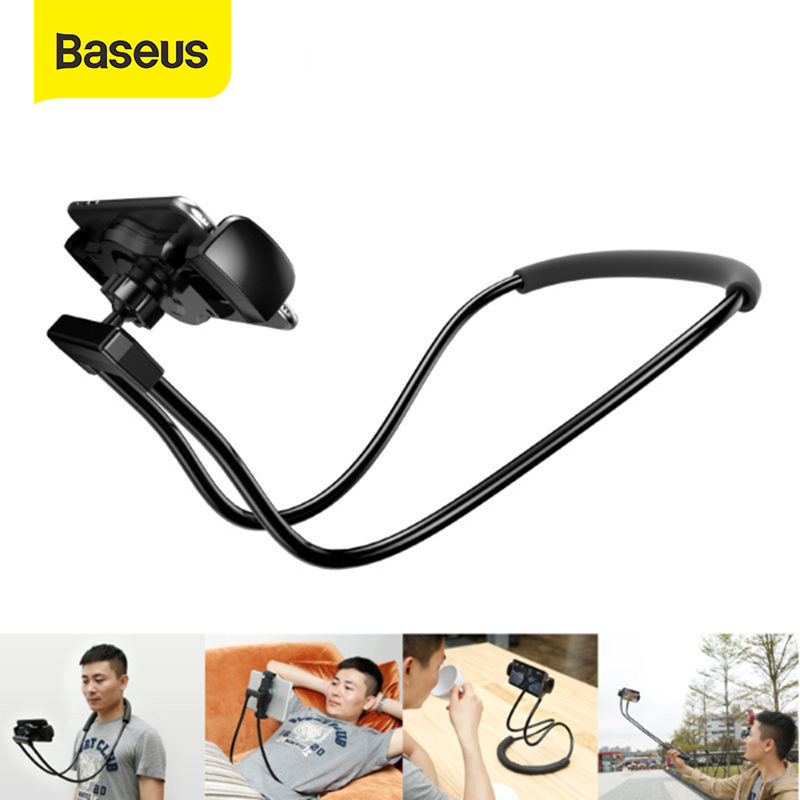 Baseus Flexible Mobile Phone Holder Universal Desk Phone Holder Stand Lazy Neck Bracket For IPhone Samsung IPad Tablet Holder