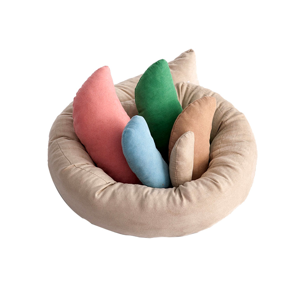 6pcs/set Filler Newborn Baby Pillow Shoot Photography Prop Comfortable Photo DIY Soft Posing Aid Basket Donut Ring