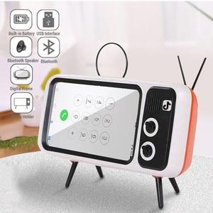 Image 2 - TV Del Telefono Mobile Del Supporto Del Basamento Per il iPhone 4.7 5.5 pollici Del Telefono Staffa di Montaggio Altoparlante Senza Fili di Bluetooth Audio Del Telefono Fisso supporto