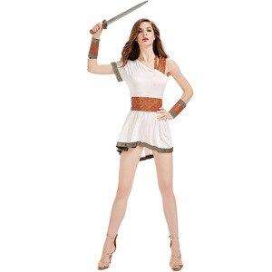 Image 4 - โบราณอียิปต์เครื่องแต่งกายผู้ใหญ่ผู้หญิงผู้ชายCarnivalฮาโลวีนชุดแฟนซีเสื้อผ้าโรมันทหารชุดคอสเพลย์
