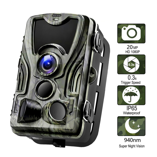 Goujxcy HC801 Hunting Camera 20MP Trail Camera Night Vision Forest Waterproof Wildlife Camera Photo Traps Camera Chasse Scouts 1