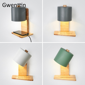Modern Indoor Wood Iron Wall Lamps Bedroom Bedside Lamp Led Wall Light Fixtures Nordic Wooden Sconce Mirror Lights Home Art Deco