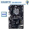 Gigabyte GA-B85-D3V с процессором G3420 оригинальная материнская плата LGA 1150 DDR3 USB3.0 B85 B85-D3V системная плата для настольных ПК Ремонт