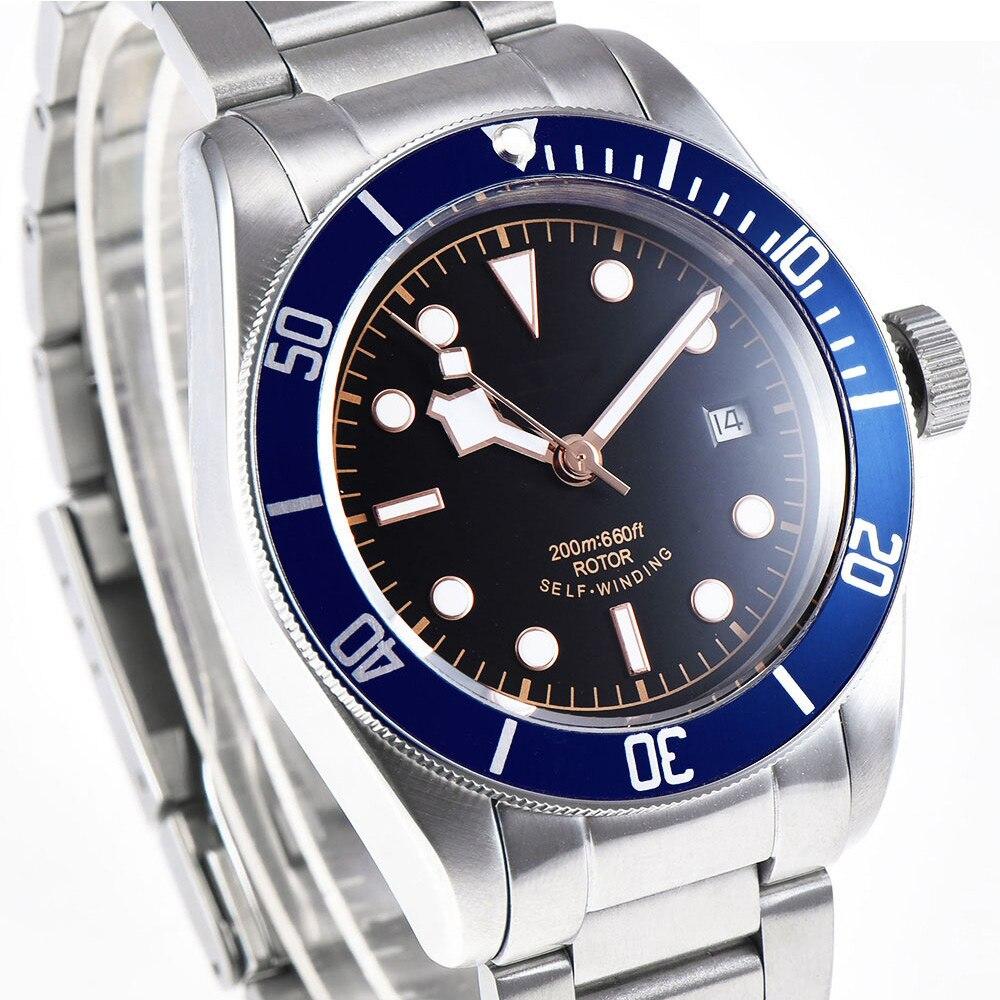 Corgeut 41 мм брендовые Роскошные мужские часы из нержавеющей стали, спортивные светящиеся водонепроницаемые мужские автоматические механичес... - 3