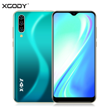 XGODY 3G téléphone portable Note 7 2GB 16GB Smartphone 6.26 ''Waterdrop HD écran MTK6580 Quad Core Android 9.0 Face ID déverrouiller 2800mAh