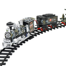 Remote Control Conveyance Car Electric Steam Smoke RC Train Set Model Toys Gift Education safe factor Gift For Kids Shipping