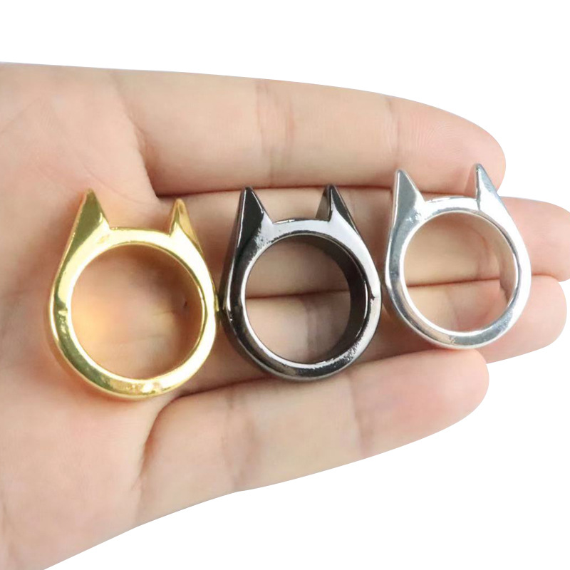 Self Defense Ring Personal Defense Weapons Men Women Survival Protection Finger Ring Safety Tool Stainless Steel