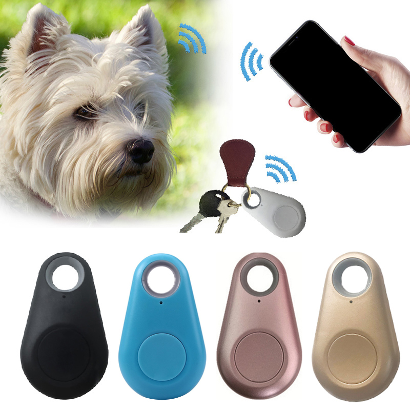 1PC Anti-Lost Waterproof Bluetooth Tracker Pets Smart Mini GPS Tracker Wallet Bag Kids Finder For Dog Cat Key Trackers Equipment