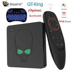 Beelink GT-King تي في بوكس أندرويد 9.0 Amlogic S922X 4GB LPDDR4 64GB ROM 2.4G + 5.8G WiFi BT 4.1 4K 2.4G التحكم عن بعد الصوتي في المخزون