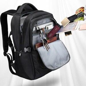 Image 3 - VORMOR 2020 חדש אופנה גברים תרמיל רב תכליתי עמיד למים 15.6 אינץ מחשב נייד תיק איש USB טעינה בית ספר נסיעות תיק
