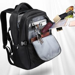 Image 3 - VORMOR 2020 yeni moda erkekler sırt çantası çok fonksiyonlu su geçirmez 15.6 inç Laptop çantası adam USB şarj okul seyahat çantası