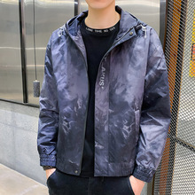 2021Spring and Autumn New Men's Coat Jacket Youth Camouflage Hooded Casual Jacket Running Sports Casual Jacket Men's Clothing