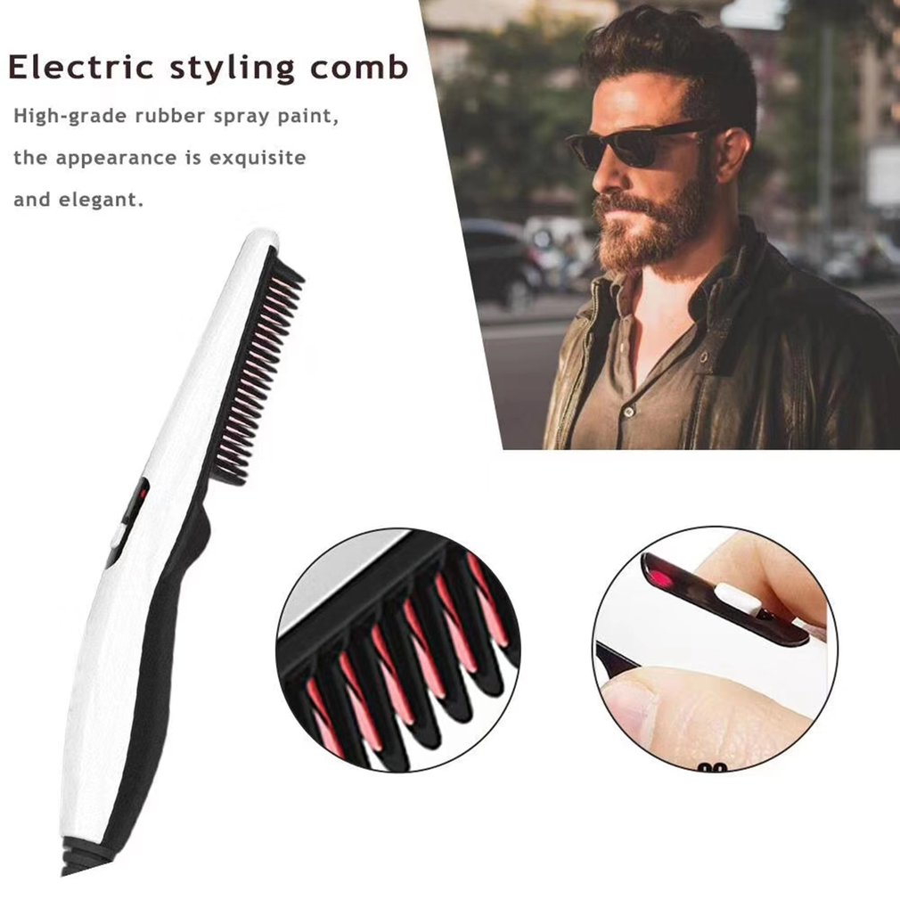Styler V2 Men'S Electric Curler Beard Corner Beard Comb Multifunctional Straight Hair Comb Professional Fashion