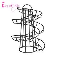 Кухонное творческое яйцо рамка спиральная корзина для яиц железное искусство практичная многофункциональная рамка для хранения включение