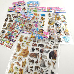 Image 3 - 10Sheets Different 3D Cute Cartoon Stickers Toys Pegatinas Funny Toy For Children On Scrapbook Phone Laptop Gifts Animals Tiger