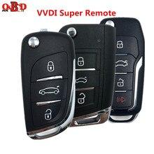 Xhorse llave con mando para automóvil, 3 botones, Universal, 1/3/10 Uds., para VVDI MINI, herramienta MAX vdi2, programador XEDS01/MQB1/FO01EN