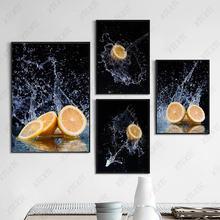 Картина на холсте с изображением фруктов натюрморта лимона плакат