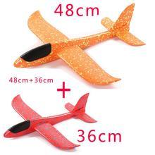 48 см ручной бросок Летающий планер самолет пена игрушка 48 см плюс 36 см большая модель аэроплана EPP Спорт на открытом воздухе самолеты забавные игрушки для детей игры