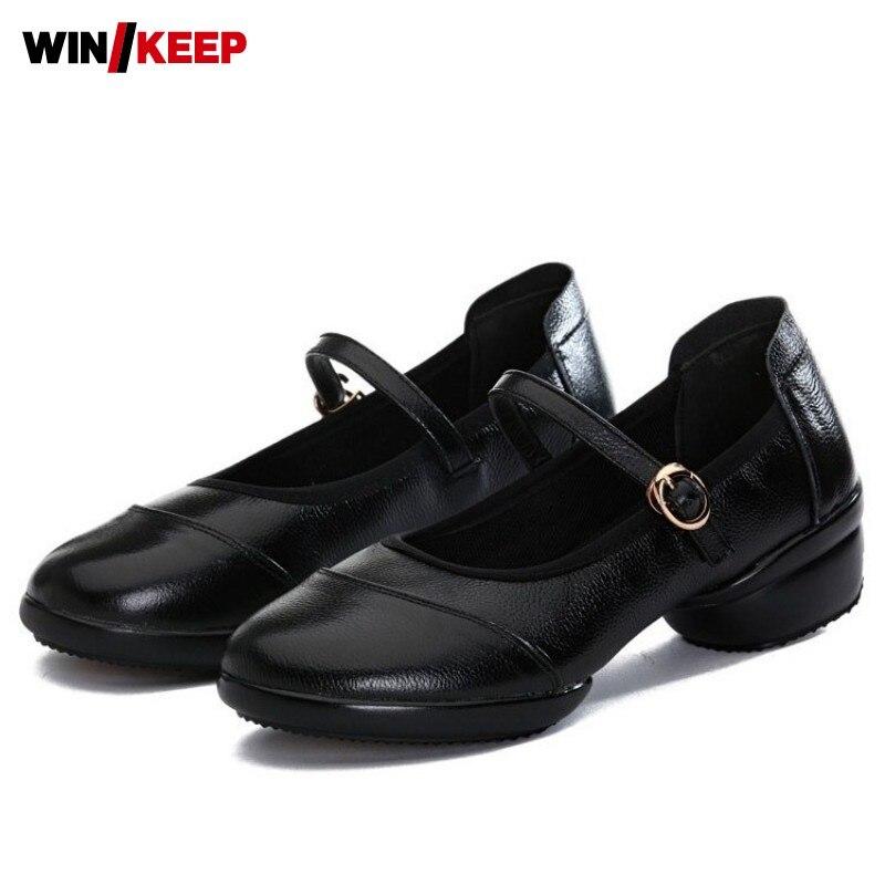 Chaussures de danse carré d'été femme boucle peu profonde baskets de danse moderne femme semelle souple noir salle de bal chaussures latines grande taille 41