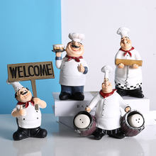 الإبداعية شخصية تمثال الديكور الشمال الراتنج اليدوية المطبخ الشيف كعكة متجر سطح المكتب الديكور الفاخرة اكسسوارات المنزل