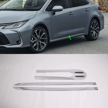 Car Accessories Exterior Decoration ABS Side Door Car Body Molding Strips Cover Trims For Toyota Corolla 2019 Car-styling