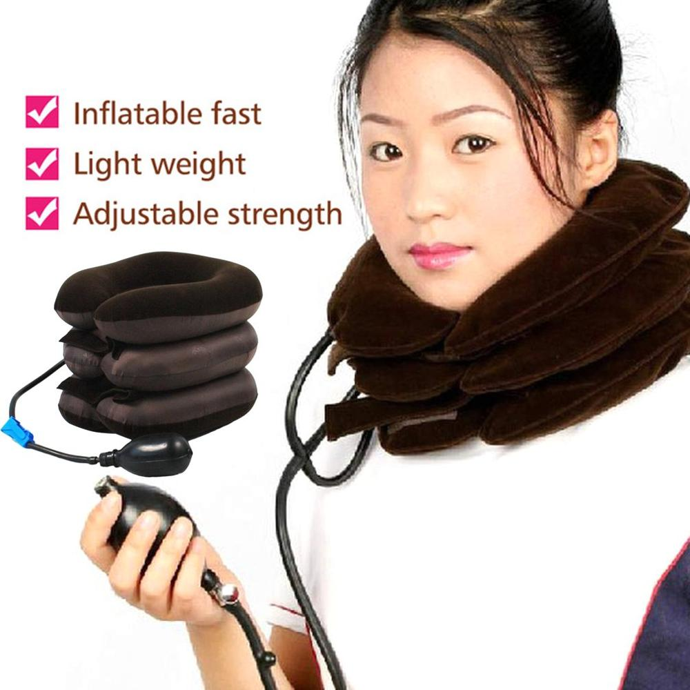 Inflatable Neck Cervical Vertebra Traction Soft Brace Support Device Unit For Headache Head Back Shoulder Neck Pain Health Care