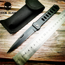 205mm 5CR15MOV Blade Knives Tactical Folding Knife Steel Handle Pocket Knives Outdoor Hunting Rescue Knife EDC Tools цены