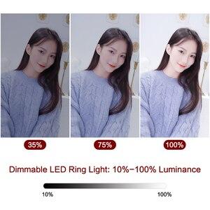 Image 4 - 9 אינץ מיני LED אנכי Dimmable שולחן העבודה טבעת אור עם USB תקע חצובה Stand עבור YouTube וידאו חי תמונה צילום סטודיו
