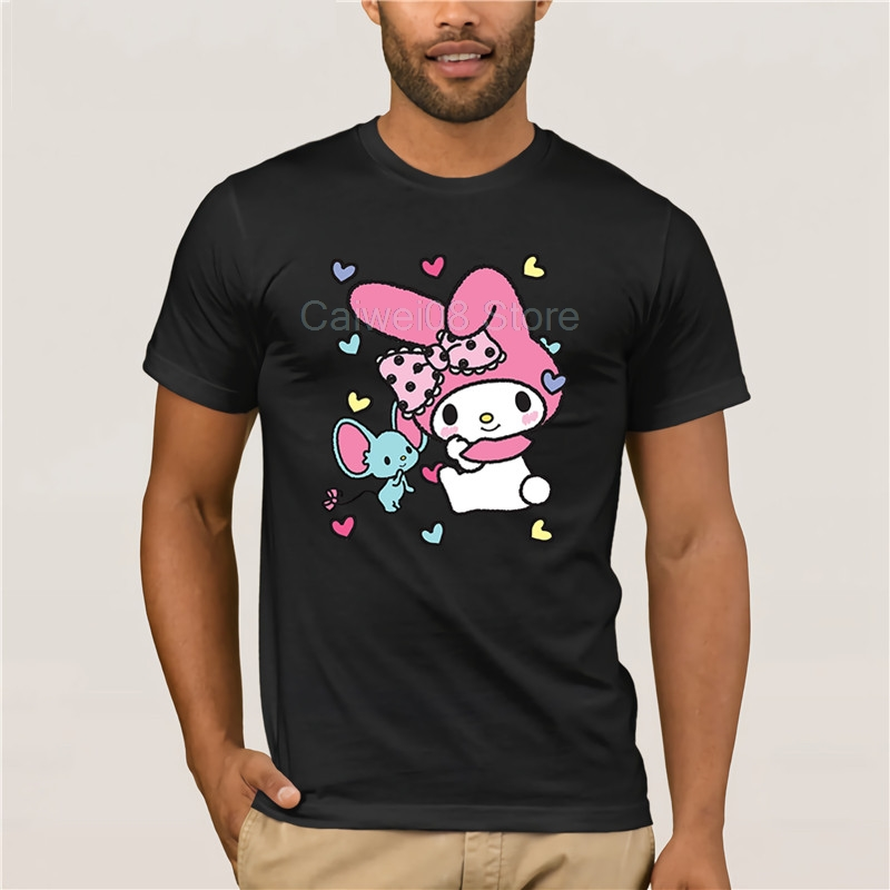 Men's 2019 Fashion Style T-Shirt brand men My Melody And Friend Sweet Hearts 100% Cotton personality T-shirt image