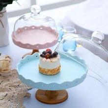 Розовый синий десертный стол поднос для торта свадебные принадлежности