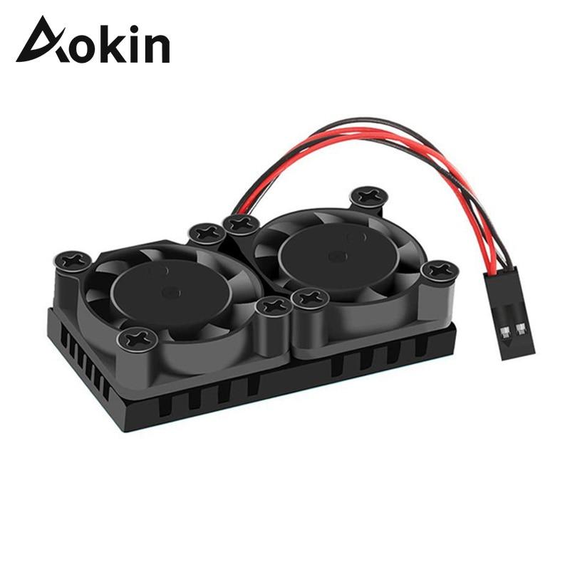 Aokin Raspberry Pi 4 Model B Dual Fan With Heatsink Ultimate Cooling Fan Cooler Optional For Raspberry Pi 3/3B+/4B