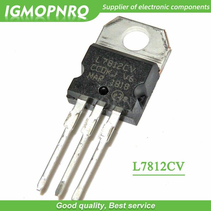 10pcs/lot L7812CV 7812 TO-220 Voltage Regulator IC + 12V 1.5A New Original