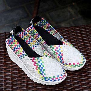 Basket Femme 2020 Casual Shoes Women's Breathable Vulcanized Shoes Light Platform Leisure Sneakers High-quality hand-knit shoes