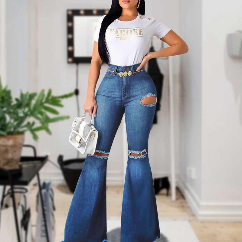 Puimentiui Nuevo Pantalones Vaqueros Acampanados De Cintura Alta Para Mujeres Pantalones Vaqueros Rasgados De Campana Negra 2020 Para Mujeres Pantalones Vaqueros Ajustados Vaqueros Mama Pantalones De Pierna Ancha Pantalones Vaqueros Aliexpress